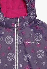 Minymo - SNOW JACKET OXFORD GIRL SHAPE - Zimní bunda - loganberry - 6