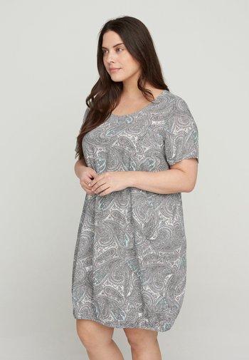 Jersey dress - bright paisley