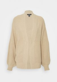 New Look - STITCHY BALLOON SLEEVE CARDIGAN - Cardigan - camel - 4