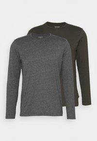 Burton Menswear London - LONG SLEEVE CREW 2 PACK  - Maglietta a manica lunga - charcoal - 4