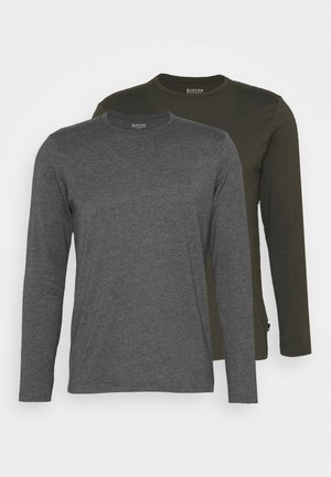 LONG SLEEVE CREW 2 PACK  - Long sleeved top - charcoal