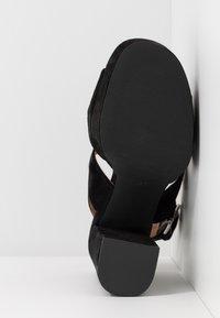 Even&Odd - LEATHER - Højhælede sandaletter / Højhælede sandaler - black - 6