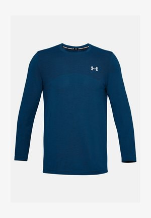 SEAMLESS LS - Long sleeved top - graphite blue
