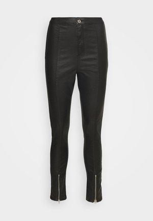 SPLIT HEM VICE WITH ZIPS - Straight leg jeans - black