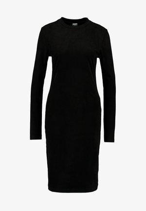 LADIES PEACHED DRESS - Etui-jurk - black