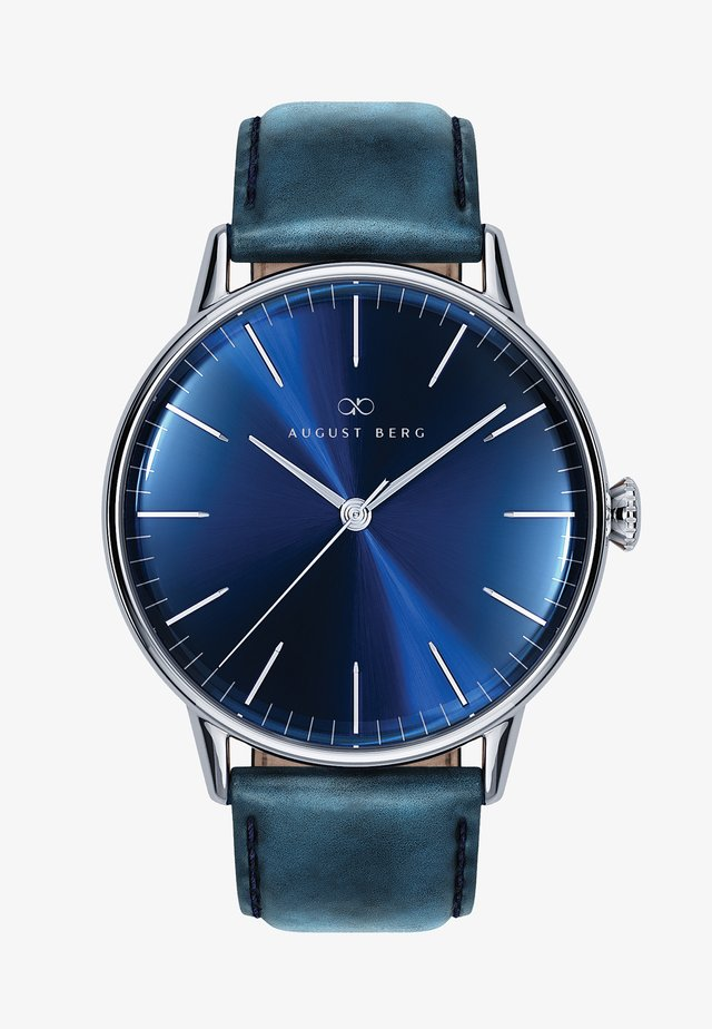 UHR SERENITY DEEP BLUE SILVER BLUE LEATHER 40MM - Orologio - sunray blue