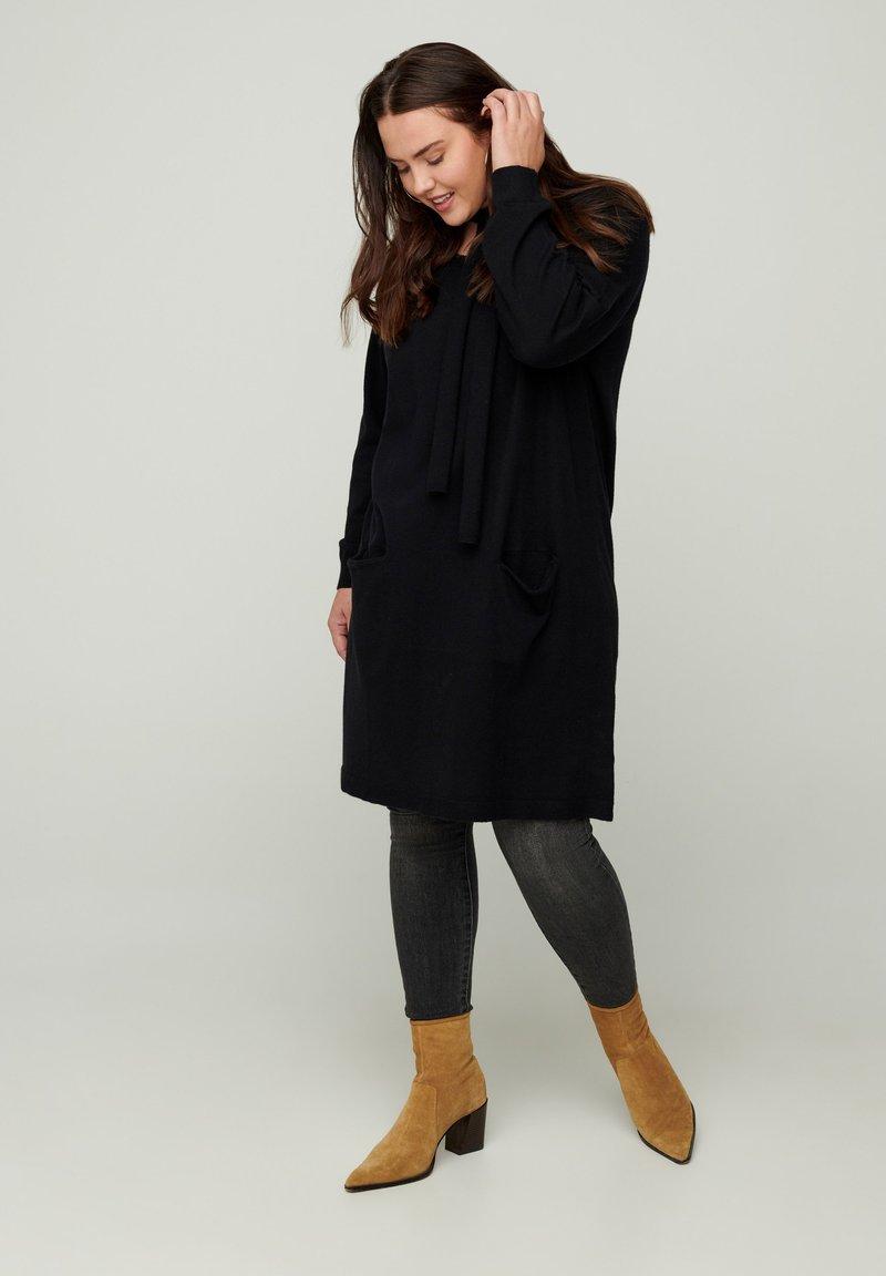 Zizzi - Jumper dress - black