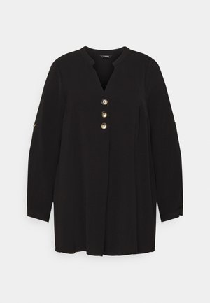 BUTTON OVERHEAD SHIRT - Bluse - black