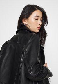 Samsøe Samsøe - WELTER JACKET  - Leather jacket - black - 3