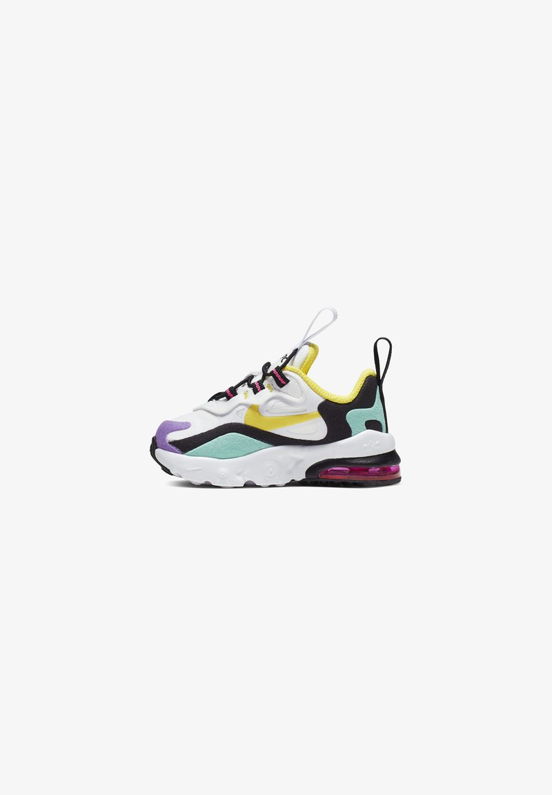 Nike Sportswear - AIR MAX 270 RT - Sneakers basse - white/black/bright violet/dynamic yellow