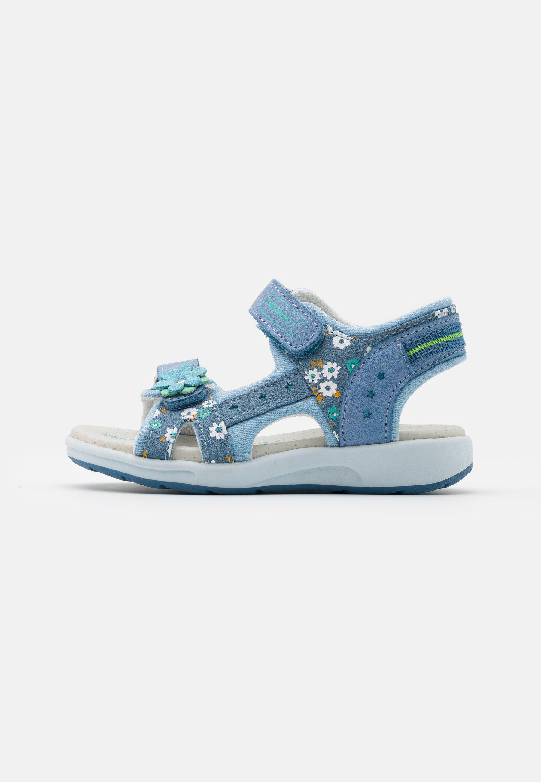 Kids LEATHER - Sandals - light blue