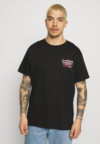 Brave Soul - FIRE - Print T-shirt - black - 2