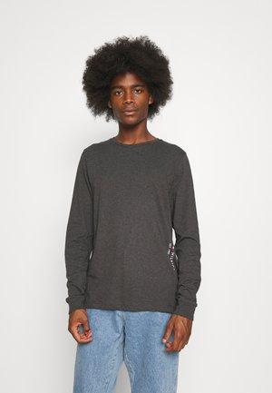 LOGO LONG SLEEVE - Long sleeved top - dark grey heather