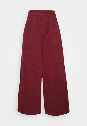 BLEACH PANTS - Bukse - wine