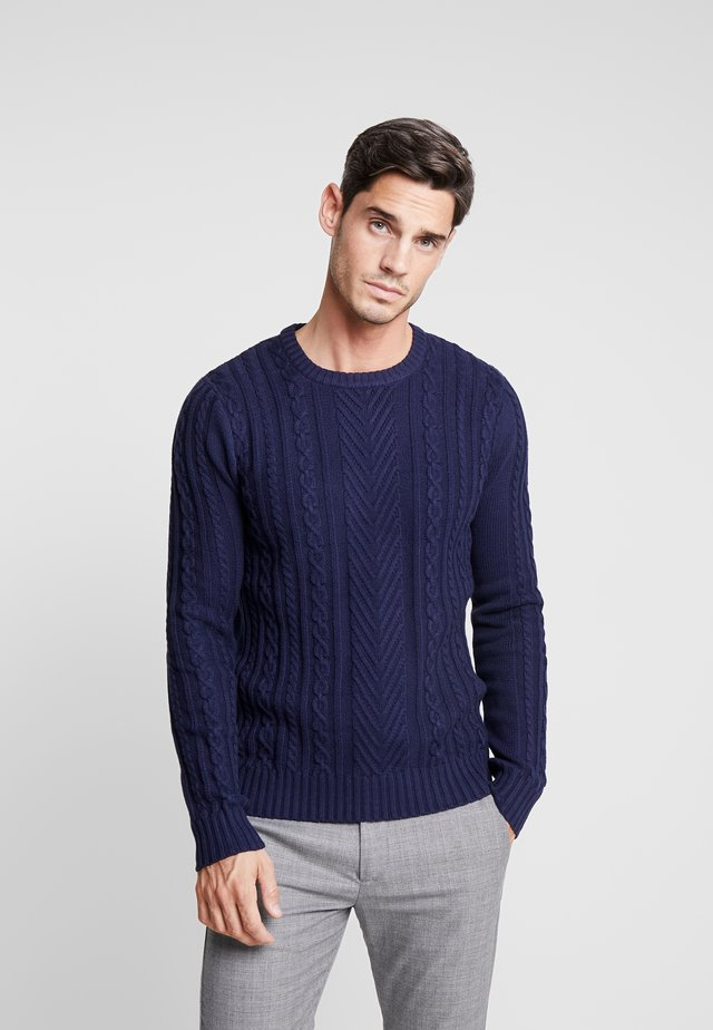 SMALL CABLE - Jumper - peacoat