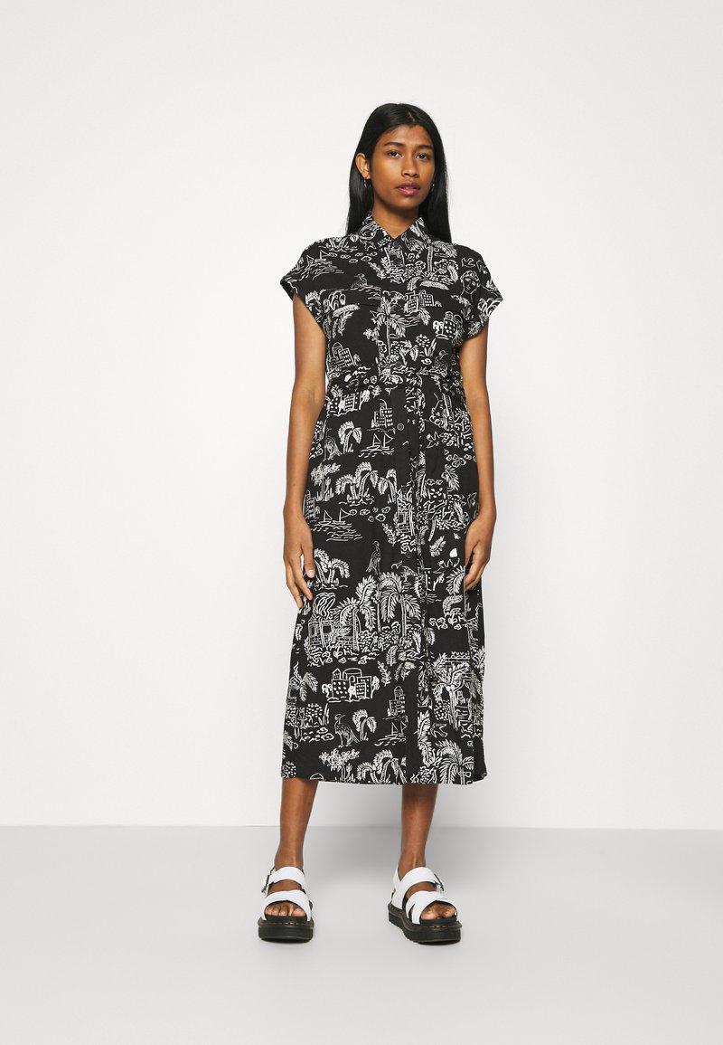 Monki - ARIANA DRESS - Skjortekjole - black