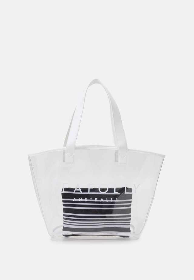 CARRIED AWAY TRANSPARENT TOTE SET - Shopping bag - clear