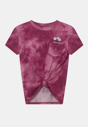 KNOT FRONT POCKET - T-shirt con stampa - purple
