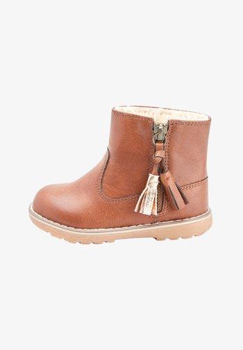 TAN TASSEL  - Baby shoes - brown