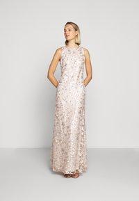Lauren Ralph Lauren - ASTOR LONG GOWN - Vestido de fiesta - belle rose/silver - 1