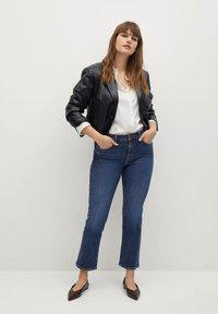 Violeta by Mango - MARTINA - Bootcut jeans - dark blue - 1
