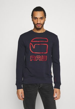 GRAPHIC GRAW R SW L\S - Sweater - sartho blue