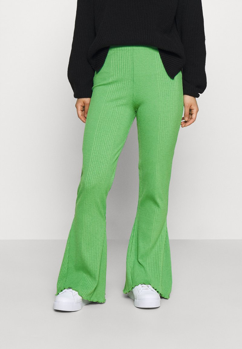 Gina Tricot Petite - ABBIE TROUSERS - Tygbyxor - kelly green