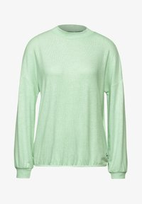 Street One - MIT STEHKRAGEN - Long sleeved top - grün - 3