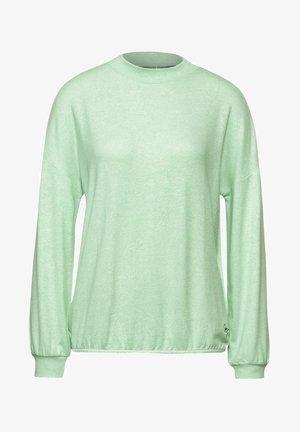MIT STEHKRAGEN - Long sleeved top - grün