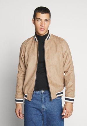 JORVAN JACKET - Faux leather jacket - tigers eye