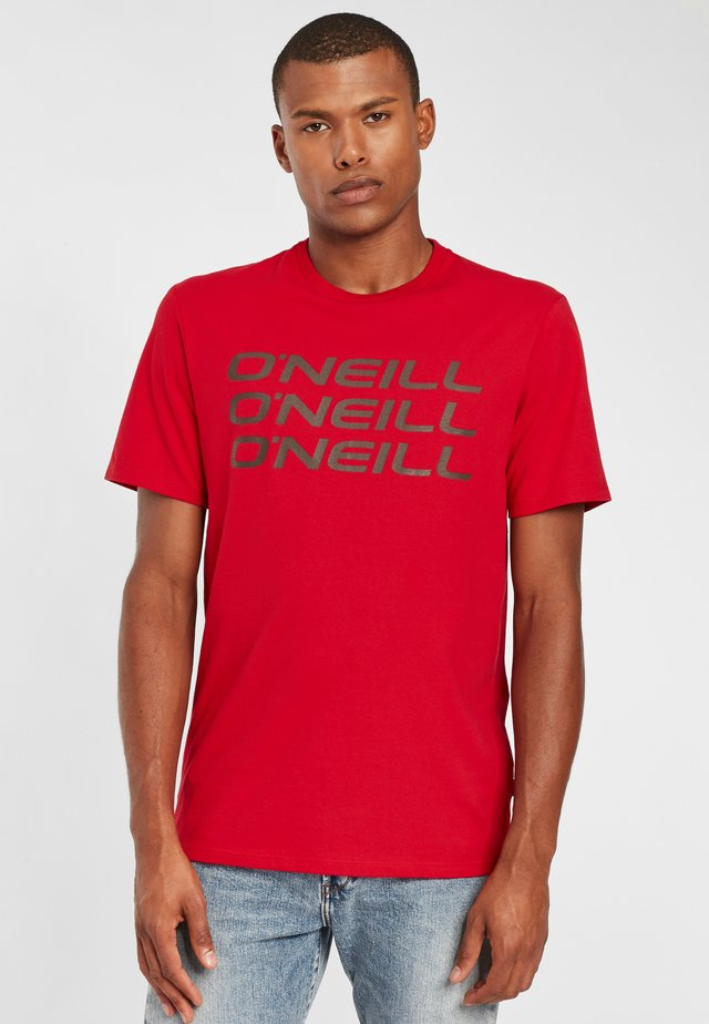 TRIPLE STACK  - T-shirt print - haute red