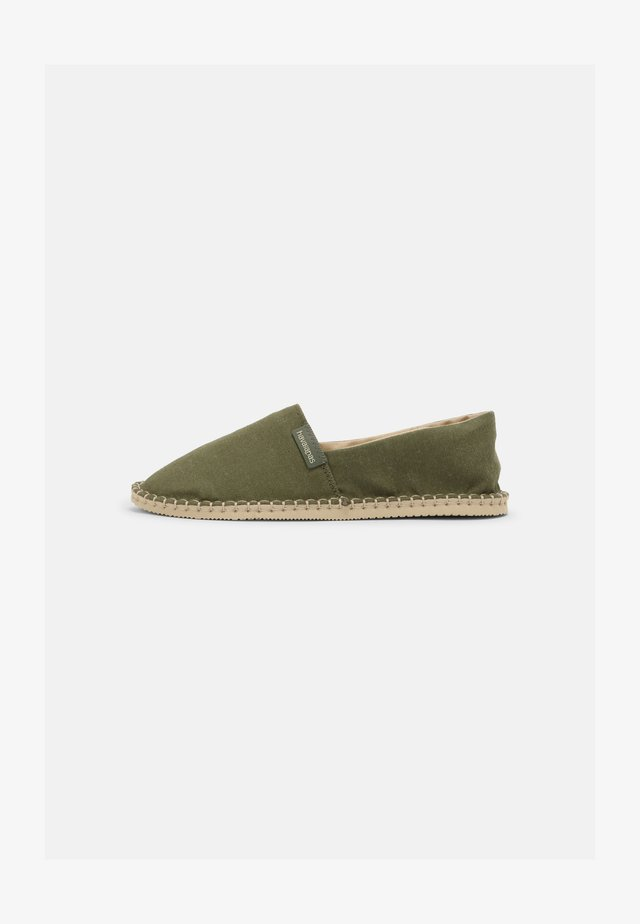 ECO UNISEX - Espadrilles - military green