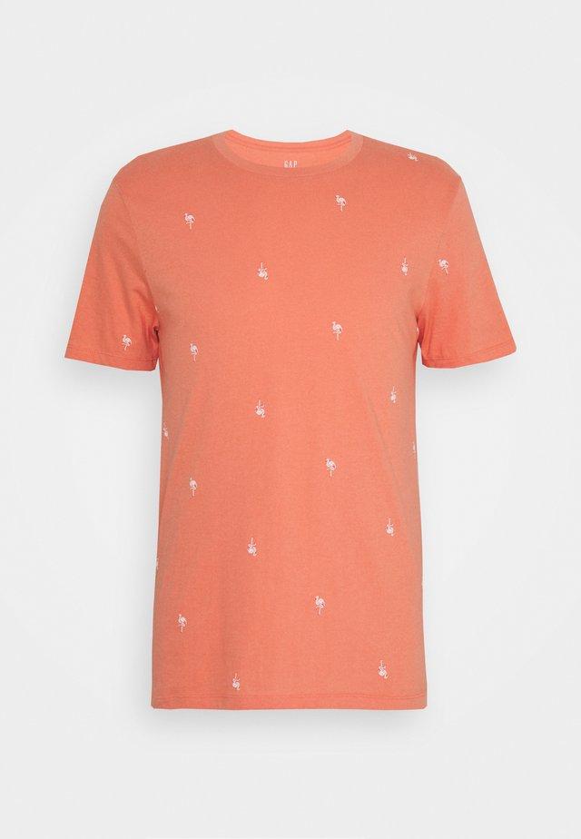 CREW CRITTER  - Print T-shirt - flamingo