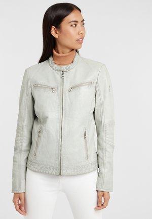 CHARLEE LAORV - Leather jacket -  grey