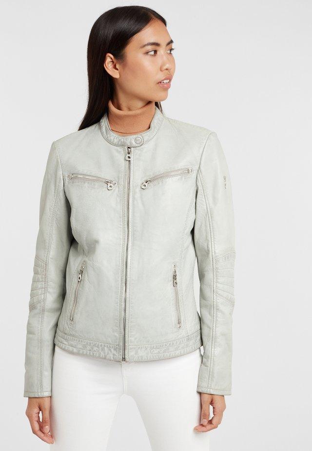 CHARLEE LAORV - Veste en cuir -  grey