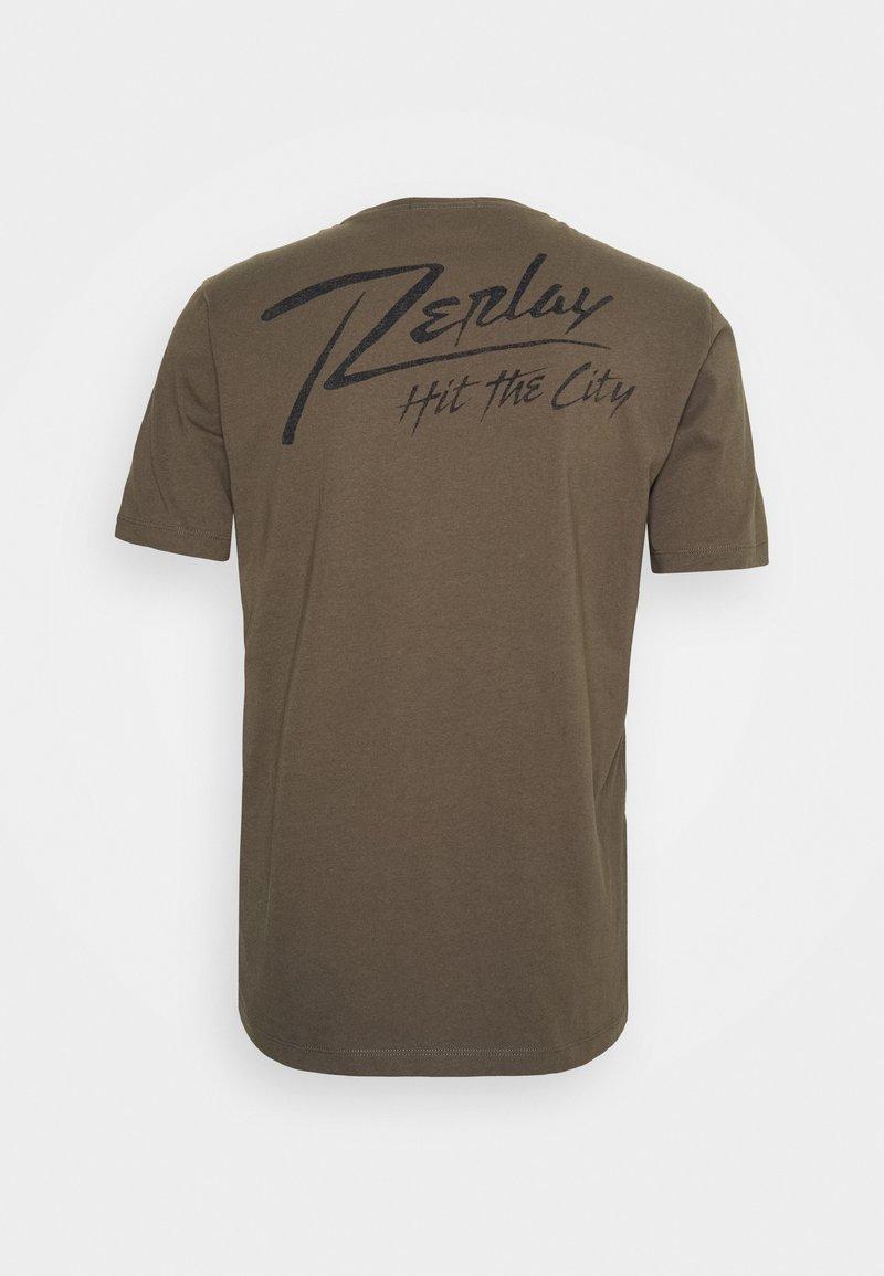 Replay T-Shirt print - military/khaki VjbKtS
