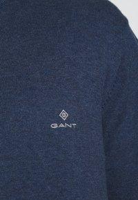 GANT - CLASSIC HALF ZIP - Stickad tröja - dark jeans blue - 4