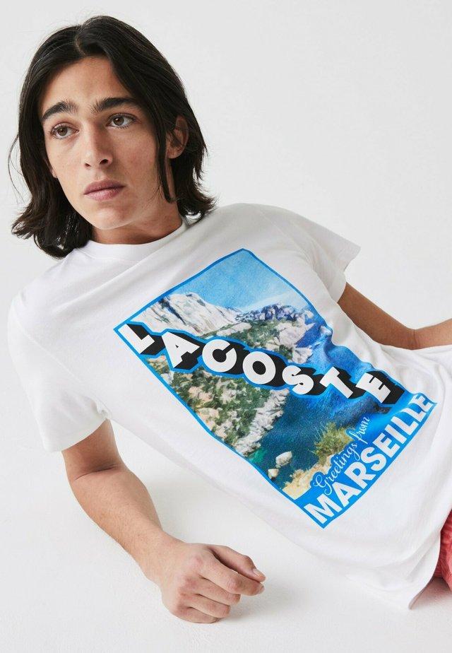 T-shirt imprimé - blanc  bleu