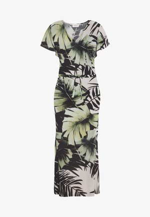 Maxi dress - white/green
