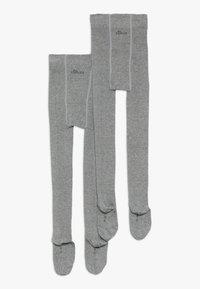 s.Oliver - ONLINE JUNIOR BASIC UNISEX 2 PACK - Tights - grey - 1