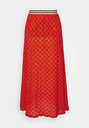 FORGET - Maxi skirt - fire red