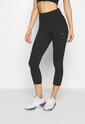 TRAIN FAVORITE SOLID HIGH RISE - 3/4 sports trousers - black