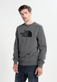 The North Face - MENS DREW PEAK CREW - Sweatshirt - mid grey heather - 0
