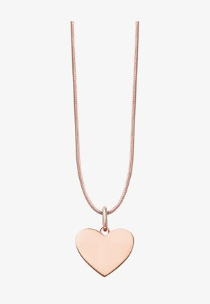 HERZ - Necklace - rose gold-coloured