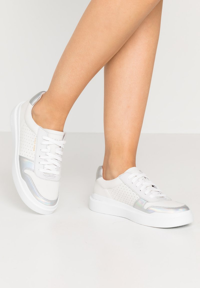 Cole Haan - GRANDPRO RALLY COURT - Trainers - optic white/iridescence silver/nimbus cloud