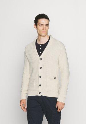 SHAWL COLLAR - Cardigan - off white