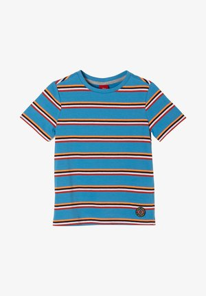 Print T-shirt - petrol stripes
