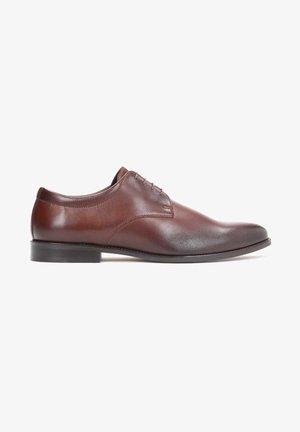 ELLAR - Elegantní šněrovací boty - brown