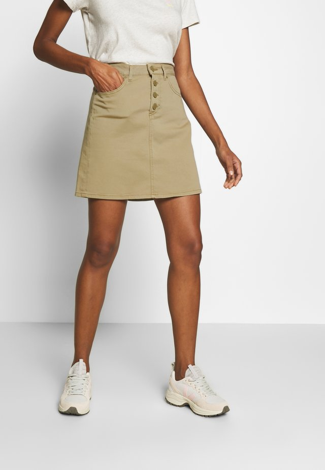 Mini skirt - bleached olive
