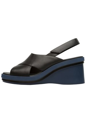 KYRA - Wedge sandals - schwarz